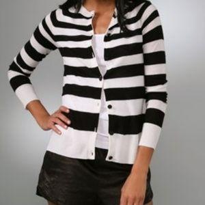 A.L.C. 100% Cashmere Striped Detailed Sweater...M